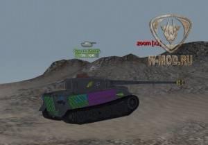 Маркеры над танками XVM