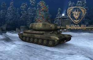 Тяжелый танк СТ-1 в зимнем ангаре