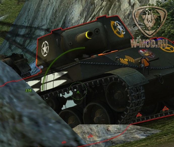 Измененные текстуры танка